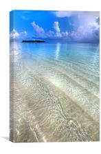 Crystal Water of the Ocean, Canvas Print