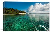 Emerald Purity. Kuramathi Resort. Maldives, Canvas Print