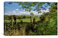 Lancashire Views Of Pendle Hill, Canvas Print