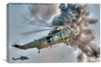 Royal Navy Sea King Helicopter, Canvas Print