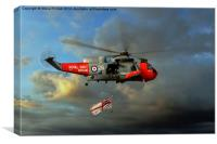 Royal Navy Search and Rescue (End of an Era), Canvas Print