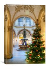 Christmas Tree in Ferstel Passage, Vienna, Canvas Print