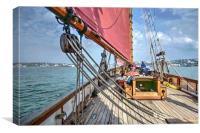 Pilgrim Heritage Sailing Trawler, Canvas Print
