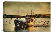 COMRADES With Catch Of Fish, Canvas Print