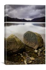 Centenary Stone, Derwent Water, Canvas Print