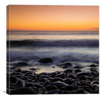 Pebbles at Sunset, Canvas Print