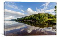 Loch Lomond in reflection, Canvas Print