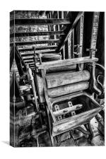 Vintage Washing Machine and Mangle, Canvas Print