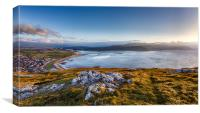 Conway Bay from Great Orme, Canvas Print
