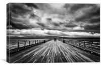 Beaumaris Pier on Anglesey, Canvas Print