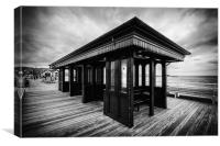 Beaumaris Pier under stormy skies, Canvas Print
