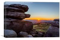 Peak District Sunset, Canvas Print