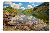 Wastwater Lake District Reflections, Canvas Print