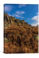 Stanage Edge in Debyshire, Canvas Print