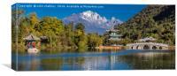 Black Dragon Lake - Lijiang, North West China, Canvas Print