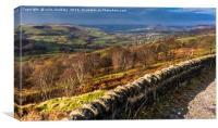 English Landscape - Peak District, Canvas Print