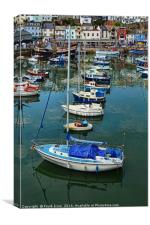 "Brixham harbour & ""Golden Hinde."", Canvas Print"