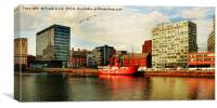 Liverpool Architecture across Canning Dock., Canvas Print