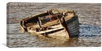 Dereliction on view off Heswall Beach, Wirral, UK, Canvas Print