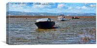 Flotsam on river Dee off Heswall Beach, Canvas Print