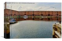 Royal Albert Dock marine close to Tate Liverpool, Canvas Print