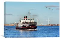 Royal Daffodil on River Mersey, Canvas Print