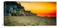 Sunset at Wells-next-the-Sea , Canvas Print