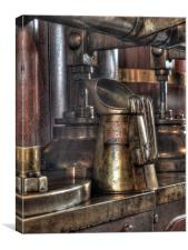 Brass oil can, Canvas Print