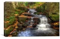 Waterfall at Lumsdale, Canvas Print