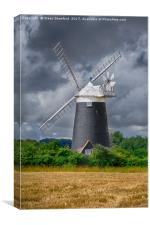 Burnham Overy Mill, Canvas Print