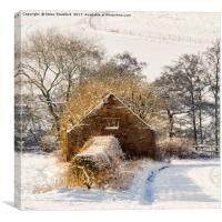 Barn and snow, Canvas Print