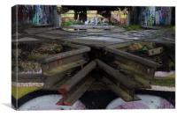 Farleigh Down Sidings 1, Canvas Print