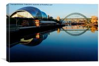 Newcastle sage  Great North Run, Canvas Print