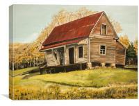 Old Gates Chapel Farmhouse, Canvas Print