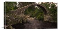 JST3057 Carrbridge Pack Horse Bridge, Canvas Print