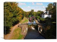 Grand Union Canal, Kings Langley, Canvas Print