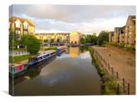 Apsley Marina on the Grand Union Canal, Canvas Print