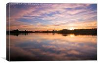 Colwick Lake Reflections, Canvas Print
