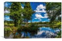 Reflections in Stover Lake., Canvas Print