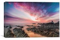 Hartland Quay Sunset, Canvas Print