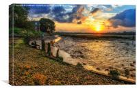 Tranquility Essex Tonights Sunset, Canvas Print