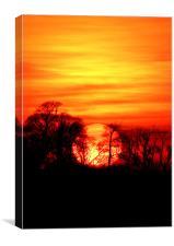 Burning Sunset, Canvas Print