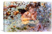 The angel of the leaves, Canvas Print