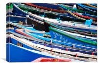 Moroccon Fishing Boats, Canvas Print