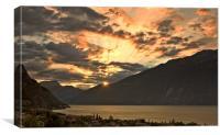Sunrise over Lake Garda, Canvas Print