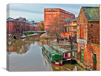 british waterways building nottingham, Canvas Print