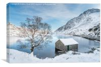 Snowfall at Llyn Ogwen, Canvas Print
