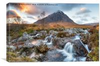 Sunset at Buachaille Etive Mor, Canvas Print