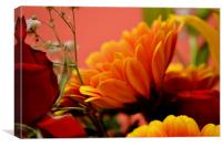 Mixed Bouquet Of Flowers, Canvas Print