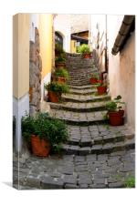 Cobbled Steps, Canvas Print
